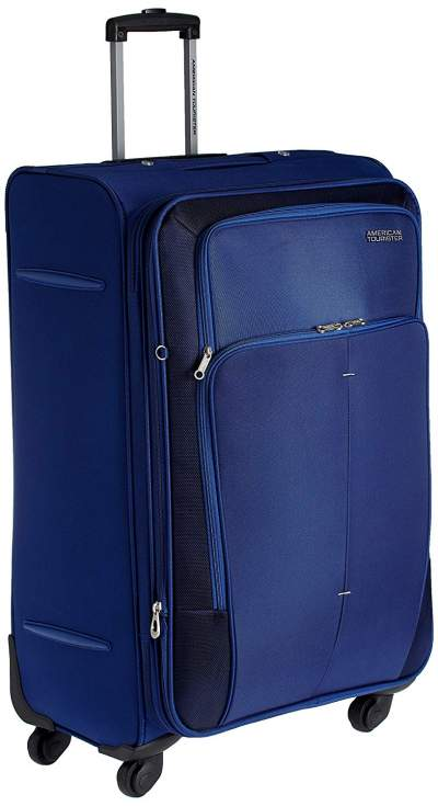 d3c30fb16 American Tourister Crete Polyester 77 cm Ink Blue Softsided Check-in Luggage  (49W (0) 01 003)