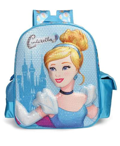 Disney Princess 20 Ltrs Blue School Backpack