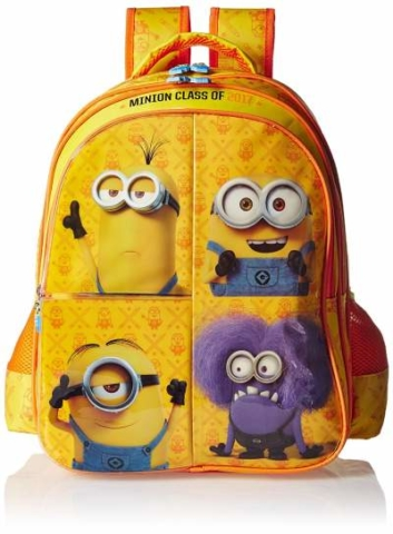 Minion Polyester Multi-Colour School Bag