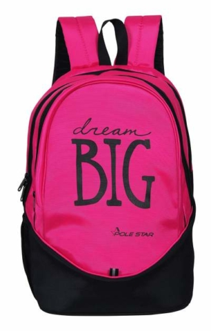 POLE STAR BIG 3 Polyester 38 Ltr Pink & Black Laptop Backpack