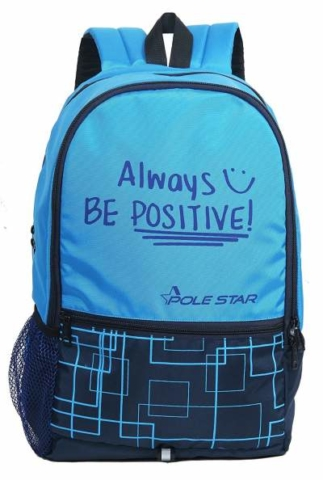 POLE STAR Hero Polyester 32L Sky & Navy Blue Backpack