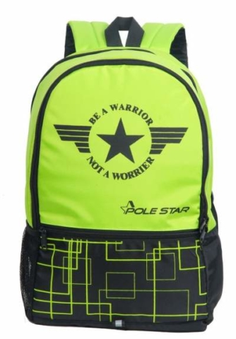 POLE STAR HERO 32 Ltr Green & Black Casual Backpack