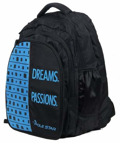 POLE STAR 36L Black & Blue Travel Backpack With 4 Compartments